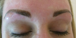 after miicroblading brow treatment